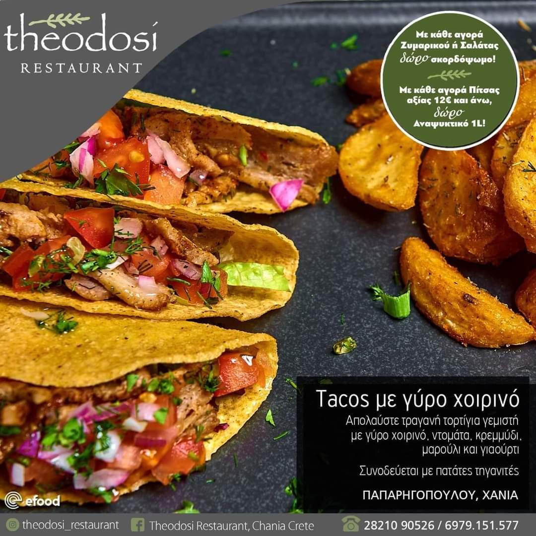 Tacos with porkk gyro